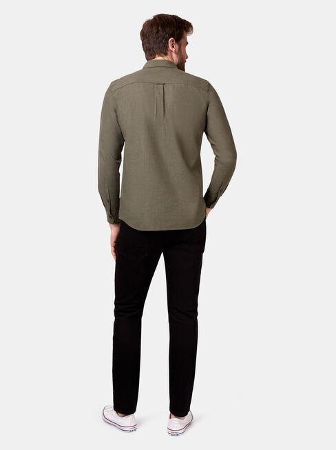 Bennett Long Sleeve Textured Shirt, Green, hi-res
