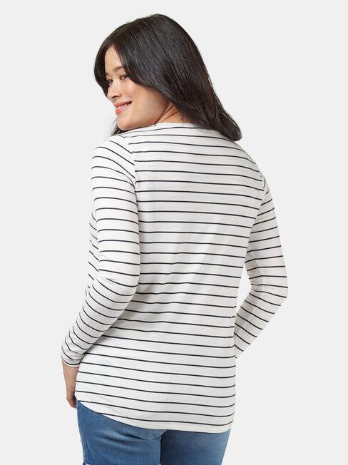 Tina Maternity Tee, Stripe, hi-res