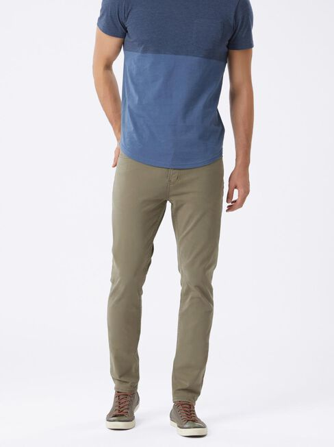 Slim Tapered Jeans Dark Olive