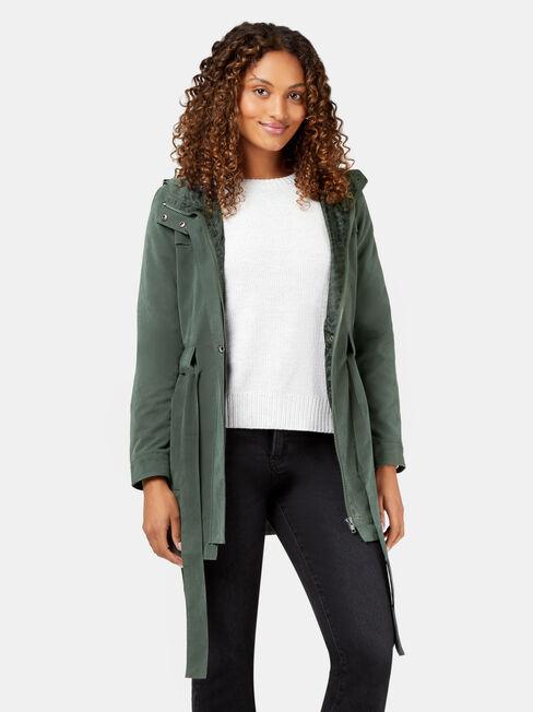 Jade Water Resistant Jacket, Green, hi-res