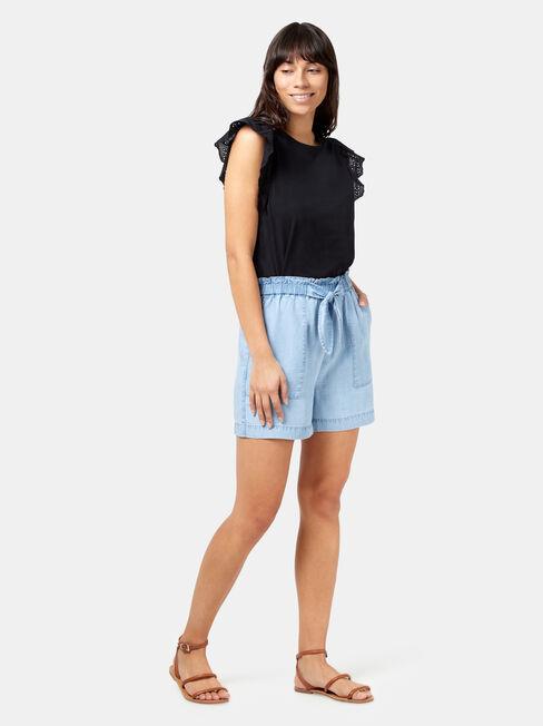 Tahlia Chambray Short, Blue, hi-res