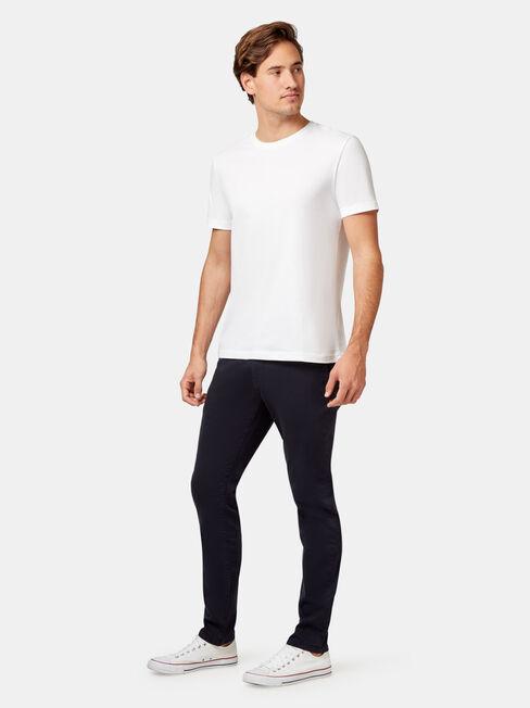 Slim Tapered Coloured Knit Jeans Ink, Dark Indigo, hi-res
