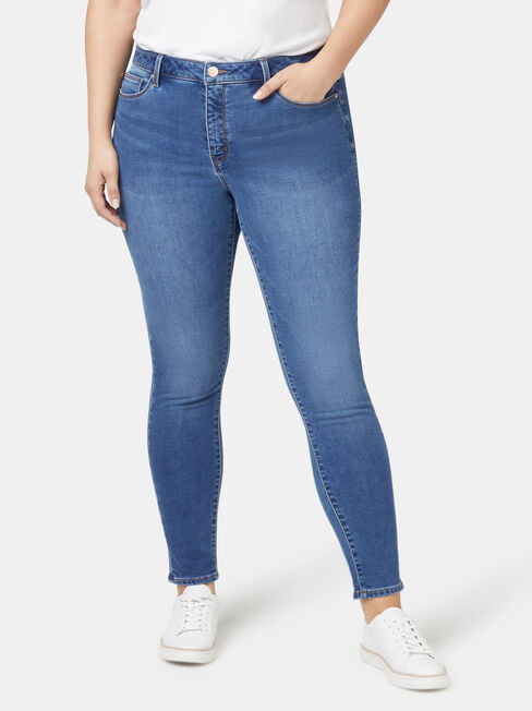 Feather Touch Curve Embracer Skinny 7/8 jeans