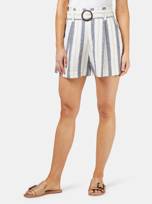 Phoebe Belted Stripe Short