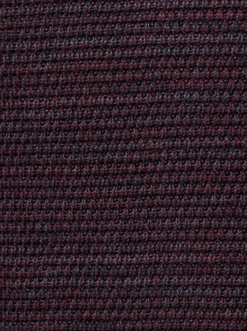 Austin Textured Crew Knit, Red, hi-res