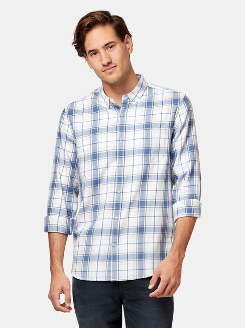 Stanford Check Shirt, Blue, hi-res