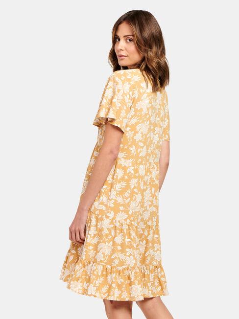 Katie Tiered Dress, Yellow, hi-res