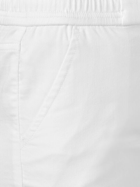 Nova Luxe Lounge Short, White, hi-res