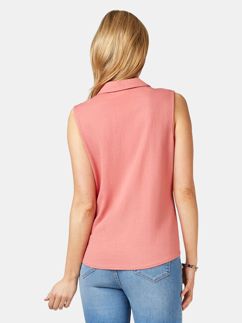 Jenny Jersey Sleeve Shirt, Red, hi-res