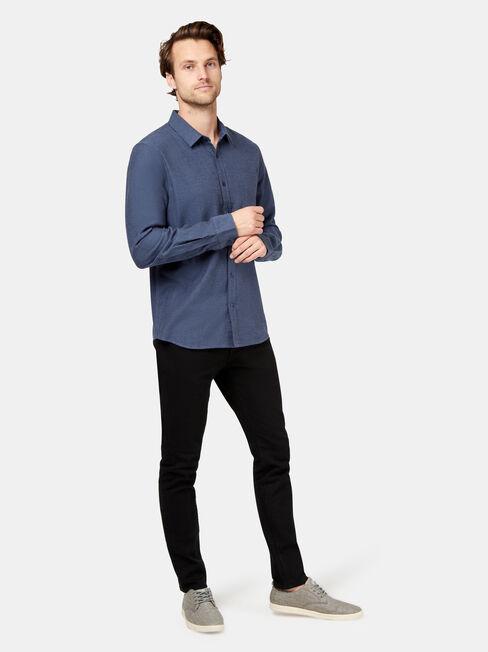 Oliver Long Sleeve Shirt, Blue, hi-res