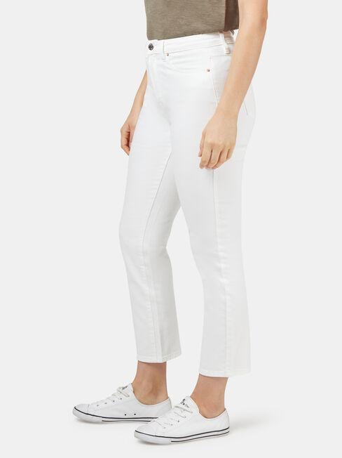 Ariel High Waisted Crop Straight, White, hi-res