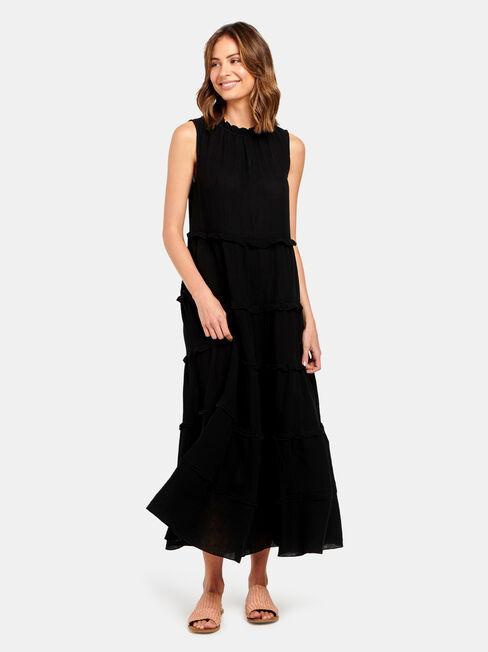 Sophie Sleeve Tiered Midi Dress