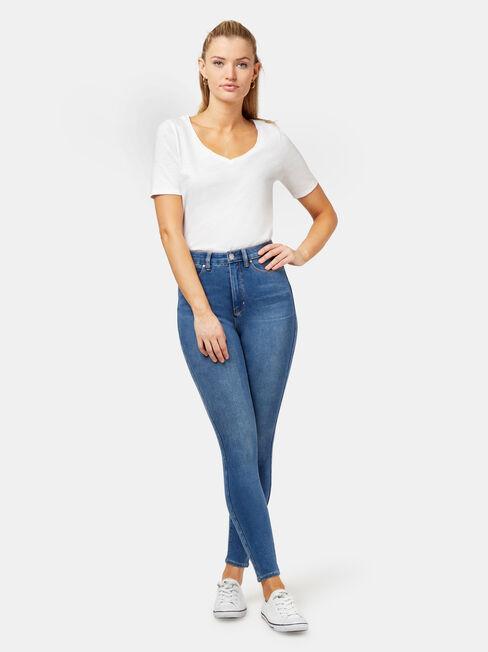 Freeform 360 Contour High Waisted Skinny 7/8 Jeans True Blue, Mid Indigo, hi-res