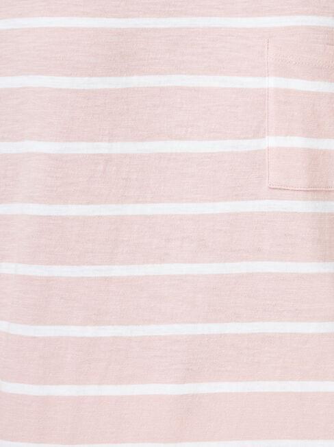 Relaxed Pocket Slub Tee, Multi Stripe, hi-res