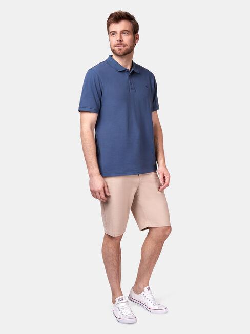 Jacob Short Sleeve Polo, Coloured, hi-res