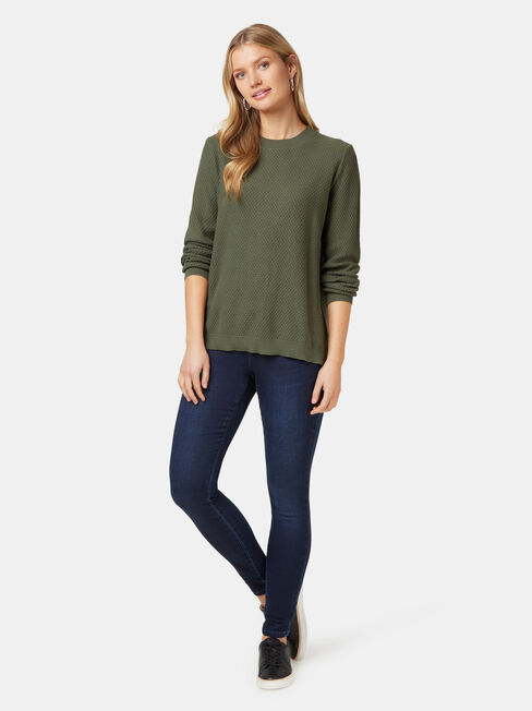 Ally Bobble Pullover, Green, hi-res