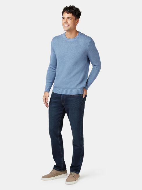 Reggie Crew Knit, Blue, hi-res