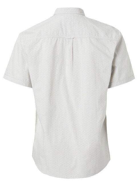 Wayne Short Sleeve Print Shirt, White, hi-res