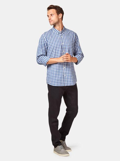 LS Wayland Check Shirt, Blue, hi-res
