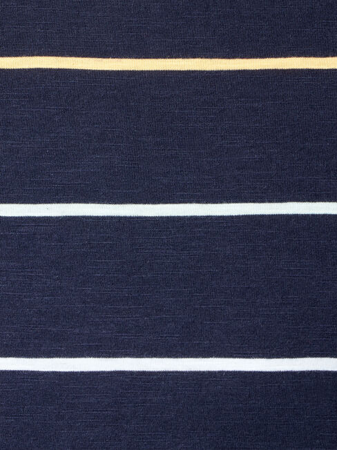 River Short Sleeve Stripe Crew Tee, Blue, hi-res