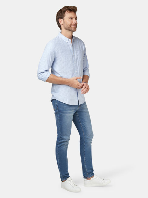 Elliot Oxford Shirt, Blue, hi-res