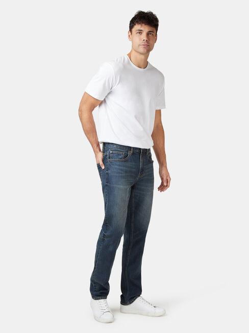 Slim Straight Jeans True Vintage, Dark Indigo, hi-res