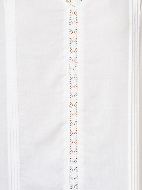 Ruby Lace Insert Tank, White, hi-res