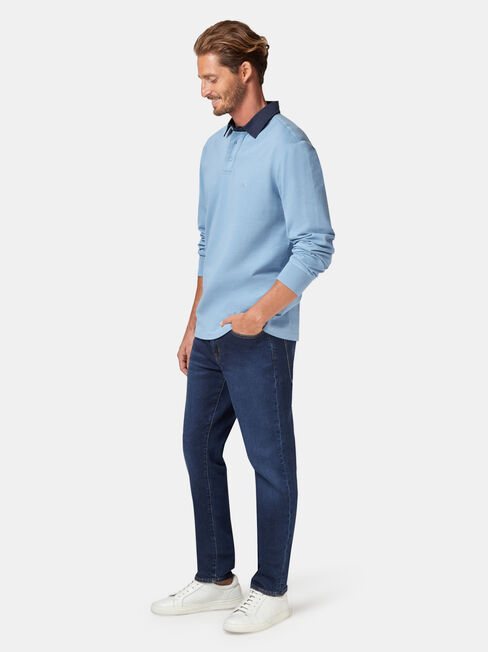 LS Hamish Rugby Polo, Blue, hi-res