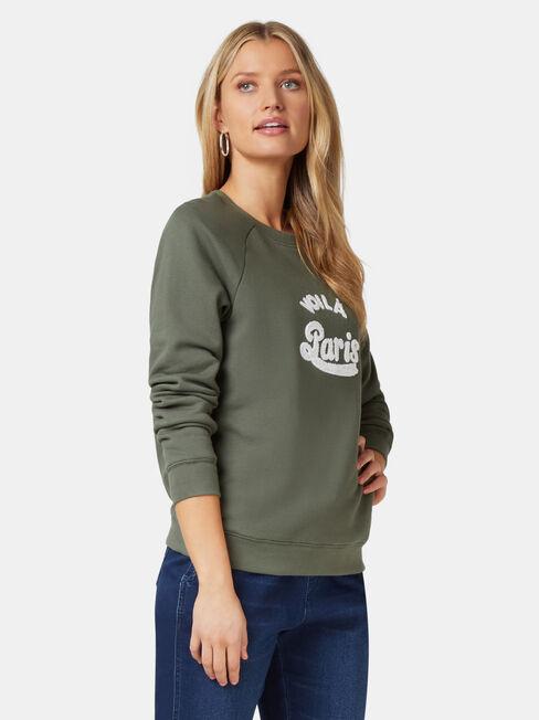 Viola Sweatshirt, Green, hi-res