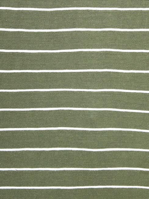 Boat Neck Pocket Tee, Stripe, hi-res