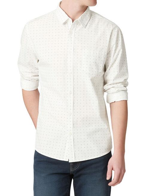 LS Rossie Print Shirt, White, hi-res