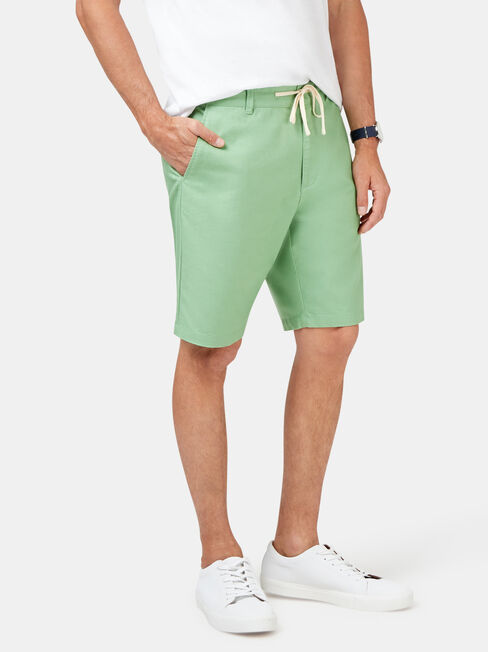Jones Tie Front Short, Green, hi-res
