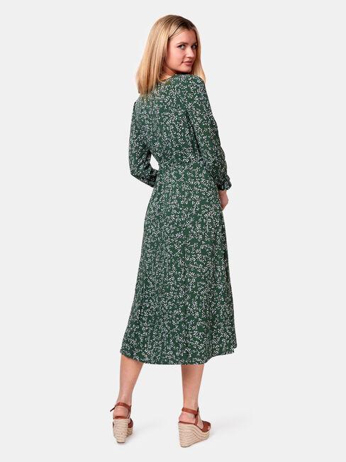 Margot Ditsy Dress, Green, hi-res