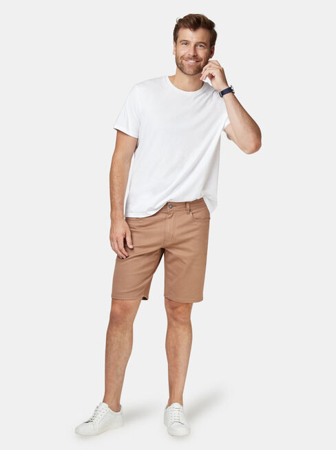 Oscar 5 Pocket Short, Brown, hi-res