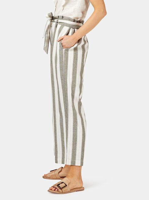 Rhianna Paperbag Pant, Stripe, hi-res