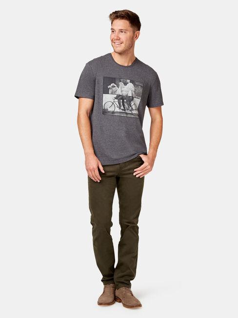 Slim Straight Jeans Dark Forest, Coloured, hi-res