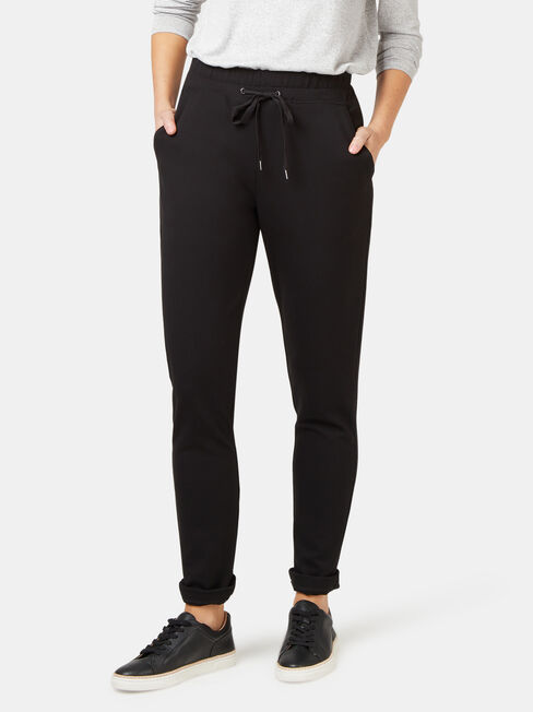 Tilly Ponte Jogger, Black, hi-res