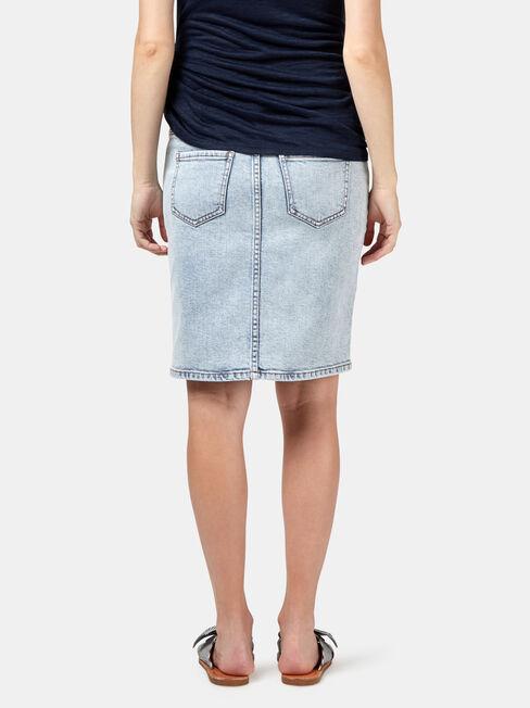 Alexa Maternity Skirt, Blue, hi-res