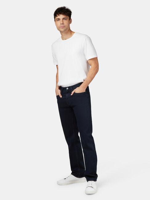 Straight Leg Jeans Coated Ink, Dark Indigo, hi-res