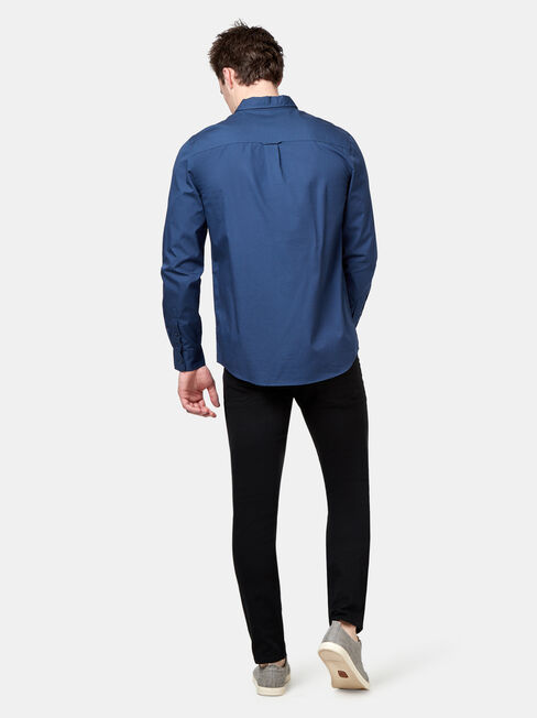 Buster Long Sleeve Print Shirt, Blue, hi-res