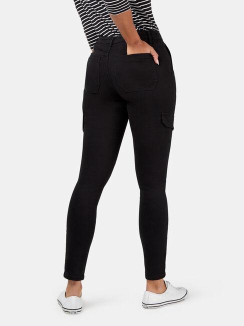 Cheska Utility Pant, Black, hi-res