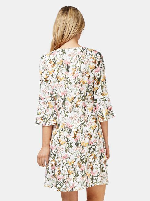 Molly Ladder Dress, White, hi-res