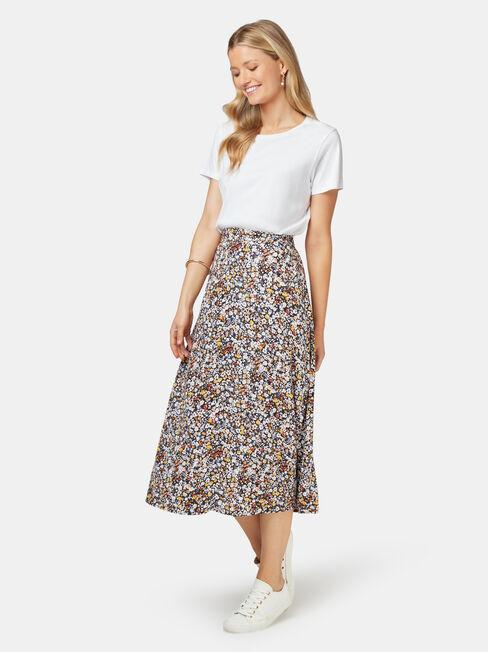Imogen Split Midi Skirt, Multi, hi-res