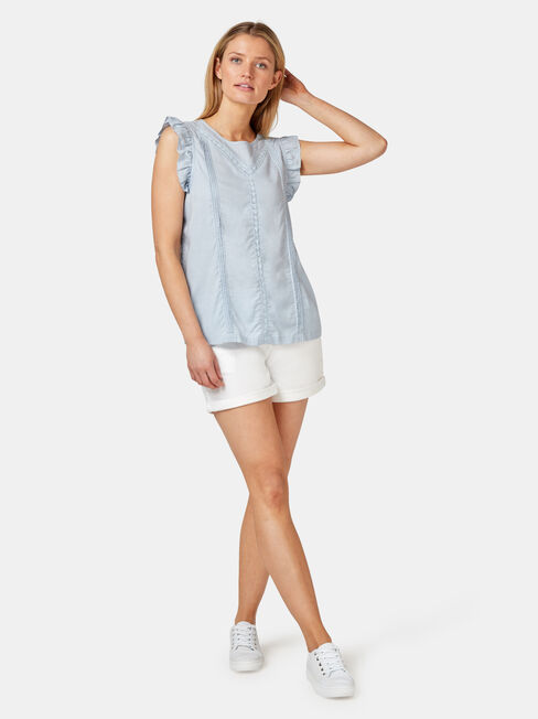 Ruby Lace Insert Tank, Blue, hi-res