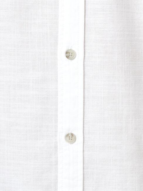 Bennett Long Sleeve Textured Shirt, White, hi-res