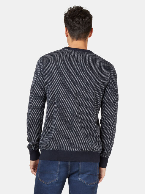Bailey Crew Neck Knit, Blue, hi-res