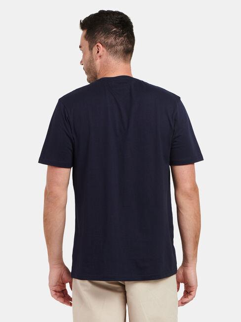 Dylan Short Sleeve Print Crew Tee, Blue, hi-res