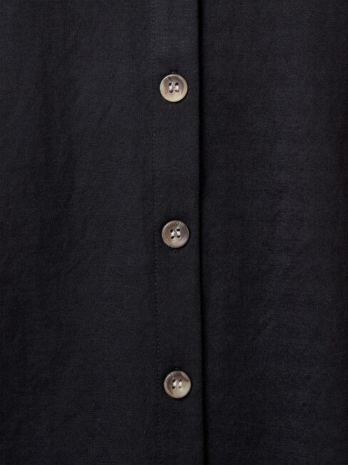 Terryn Button Thru Tank, Black, hi-res