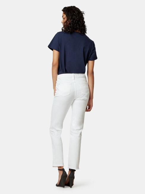 Slim Straight Jeans White, No Wash, hi-res