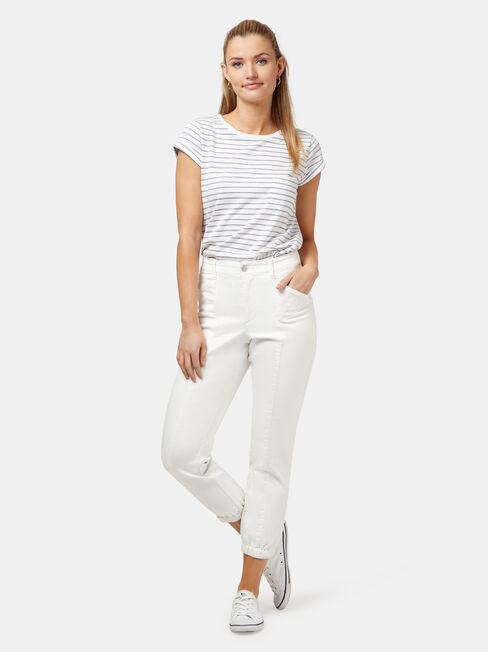 Leah Utility Luxe Lounge Jogger, White, hi-res
